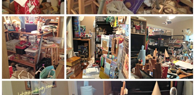 Craft room collage with text