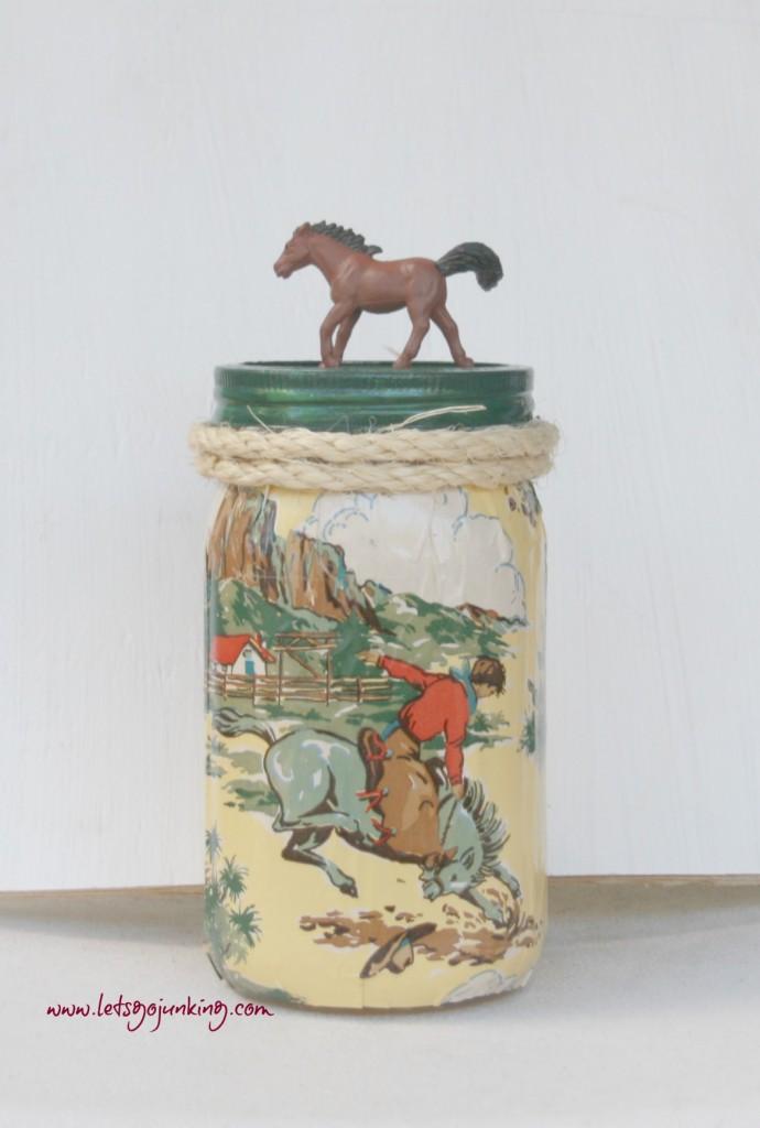 mason jars and horses
