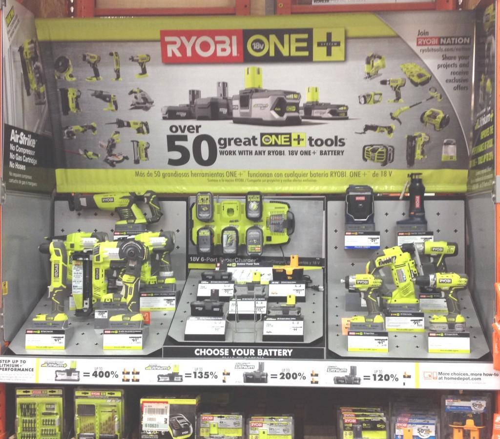 ryobi tool display