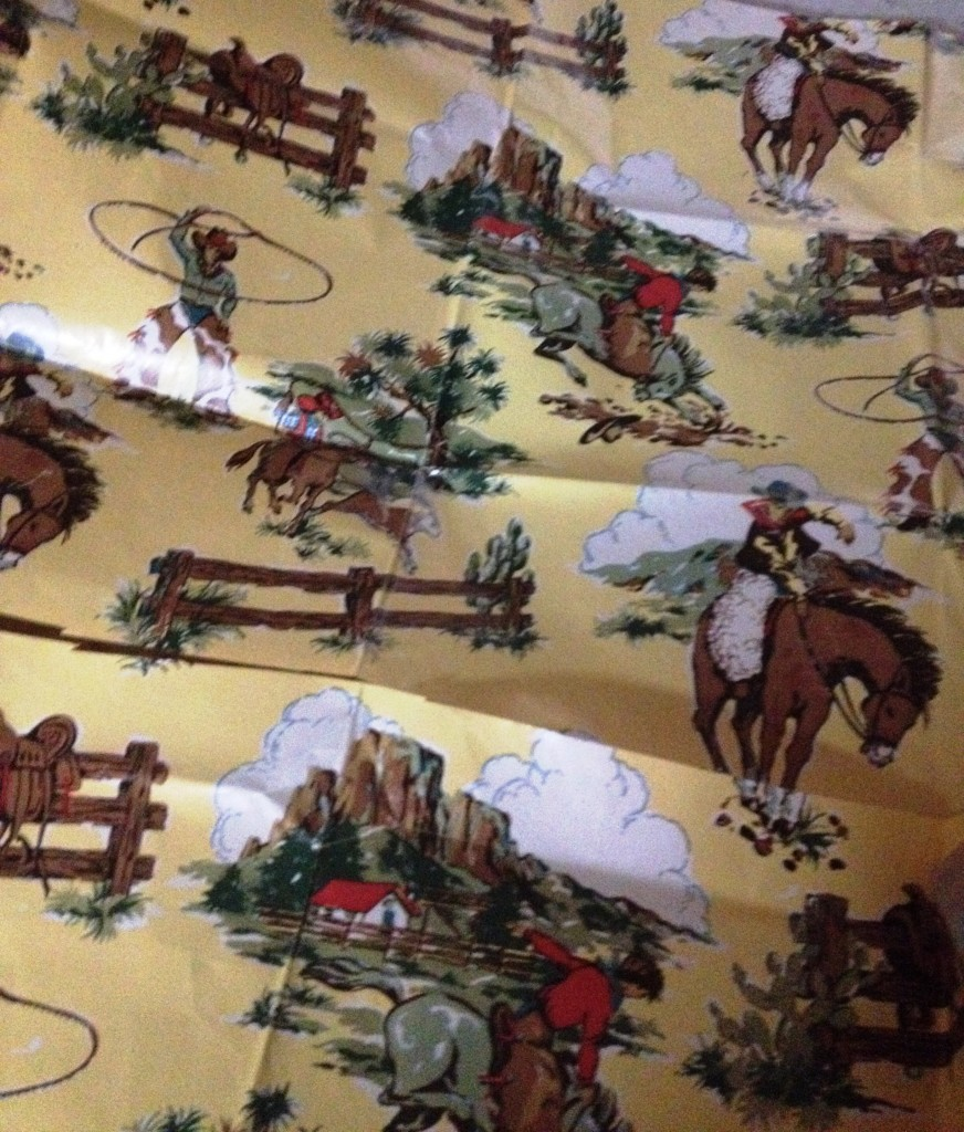 vintage cowboy paper