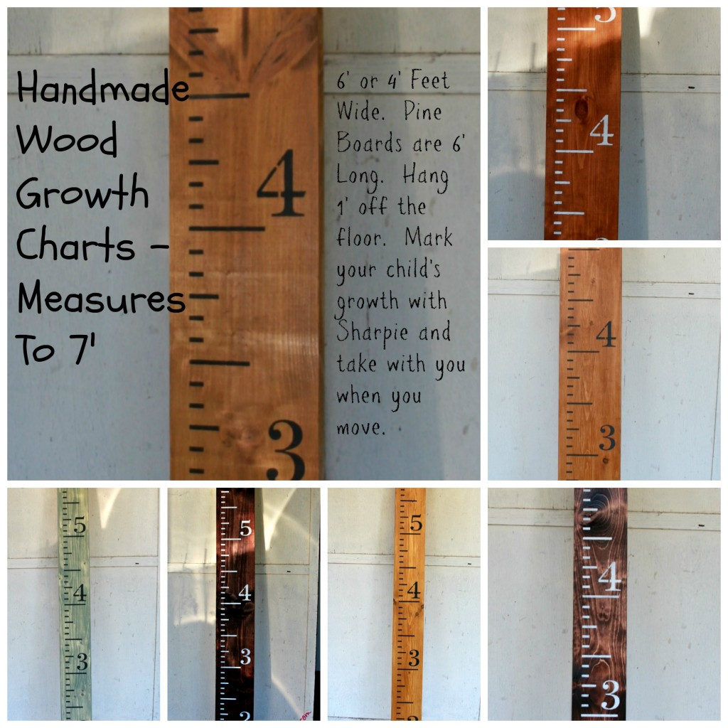 Wood Growth Chart Collage