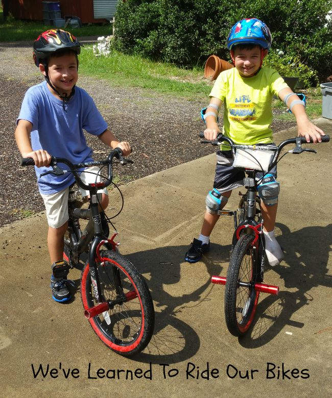 weve learned to ride our bikes