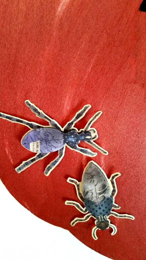 closeup bug on pumpkin