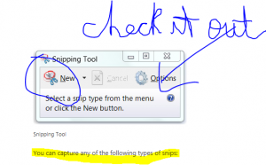 snipping tool with notes